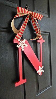 The CUTEST Monogram Wreath Monogram Christmas by MadeByThomasB, $23.00