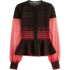 Alexander McQueen Knit Cardigan ($1,325) ❤ liked on Polyvore featuring tops, cardigans, black, red, alexander mcqueen cardigan, round neck cardigan, knit cardigan, rose cardigan and fitted tops