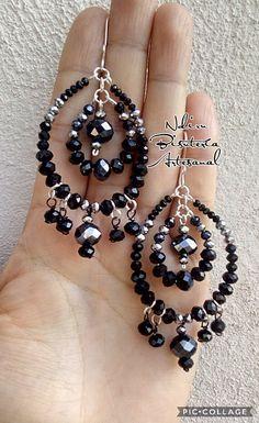 Bead Jewellery, Wire Jewelry, Jewelry Art, Jewelry Design, How To Make Earrings, Bead Earrings, Diy African Jewelry, Earrings Handmade, Handmade Jewelry