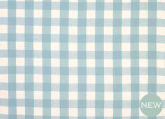 Whitby Check Linen/Cotton Fabric Seaspray
