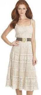 Nana crochê: vestidos. Crochet dress with disgram