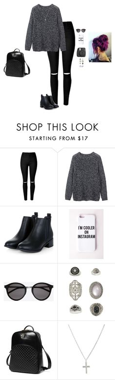 """Grunge Instagram"" by hanakdudley ❤ liked on Polyvore featuring Toast, Missguided, Yves Saint Laurent, Topshop, Princess Carousel and Skagen"