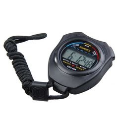 Hot New Digital LCD Running Timer Chronograph Sports Stopwatch Counter with Strap