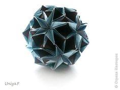 Кусудама Мастер-класс Новый год Рождество Оригами Snow Star Туториал  Бумага фото 1