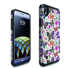 Buy For LG Tribute HD LS676 X Style ITUFFY 3items: LCD Protector Film+Stylus Pen+Dual Layer [Shock Absorbant] [Slim Fit] Hybrid Armor Case (Colorful Butterfly Bliss) NEW for 4.99 USD | Reusell