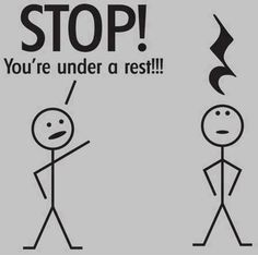 Stop your under a rest!