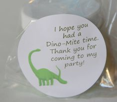 Dinosaur Party Favor Thank you Sidewalk Chalk Paint