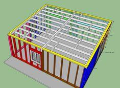 fabrication d'un double garage ossature bois - Page 4 - Forum copain des copeaux Double Garage, My Mets, Facade, Wood Construction, Home, Law School, Double Carport, Facades