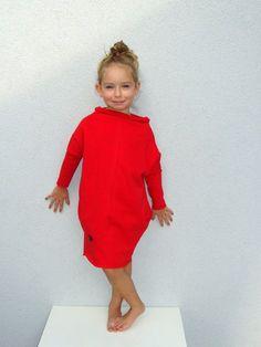 Vestido rojo de gran tamaño por millupa en Etsy