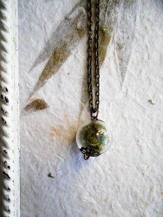 moss terrarium necklace.