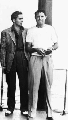 Tyrone Power and Cary Grant