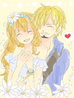 Sanji and Nami-tbh I don't ship them, but this was too cute to pass up