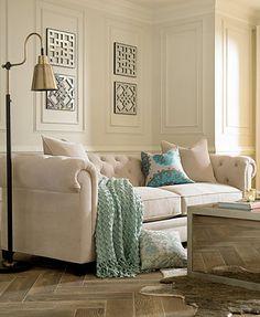Martha Stewart Collection Saybridge Fabric Sofa: Custom Colors | macys.com