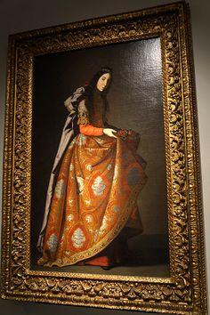 """Santa Casilda"" de Zurbarán en la Exposición Hubert de Givenchy. Museo Thyssen Bornemisza de Madrid. #Arte #Arterecord 2014 https://twitter.com/arterecord"