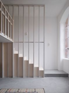 Gallery of Bow Quarter Apartment / EBBA ARCHITECTS - 5 Open Plan Apartment, Interior Architecture, Interior Design, Wooden Staircases, Stair Steps, London Apartment, Floor Space, Lounge Areas, Minimal Design