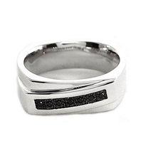 Men S Black Diamond Accent Seven Stone Sterling Silver Ring Size 11