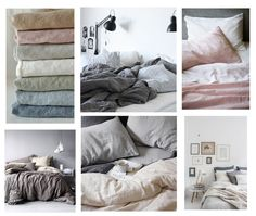To die for Linen Bedding Linen Sheets, Linen Duvet, Cotton Sheets, Bed Sheets, Bedroom Storage For Small Rooms, French Bed, White Duvet Covers, Bedroom Bed, Duvet Sets