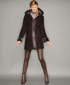The Fur Vault Shearling Lamb Hooded Coat  #cars #wheels #tyres @alloywheels