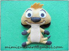 El rey león: Simba Timón y Pumba felt doll muñecos de