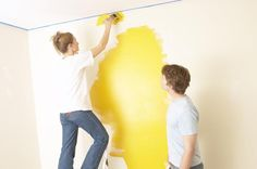How to Paint Wall Edges Two Different Colors