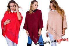 Women s Knit Stylish Trendy Warm Poncho Jumper Sweater Winter
