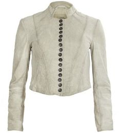 All Saints - Lowe Jacket in goat suede  Love that long row of button