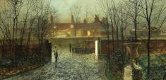 Arriving in the Hall - John Atkinson Grimshaw - 1878