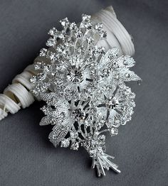 Rhinestone Brooch Component Crystal Rose Flower Embellishment Wedding Broach Bouquet Cake Hair Comb Shoe Clip Supply BR204