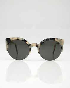 77ce4b76672 Lucia Puma Super Round half-frame wayfarer with an animal print acetate  frame from SUPER