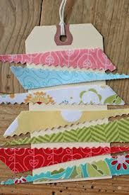 diy gift tags with fabric scrap