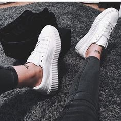 ∆•white fenty puma by Rihanna creepers•∆
