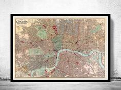 Old Map of London 1880 - product image
