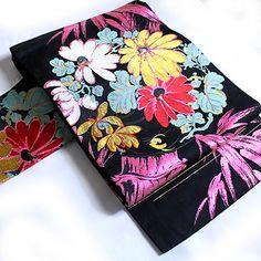 ビビットなピンクの菊柄名古屋帯 - ポップでガーリーな普段着物・ヘッドドレス・古道具・雑貨・アンティークやアーティスト作品の販売 『chiwachiwa ちわちわ』