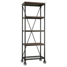 Merida 4 Shelf Mixed Media Bookcase - Homelegance $349