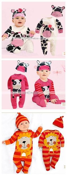 Cute Newborn sets, which animal  do you want to dress up your kid today? Cow? Panda? Or lion?