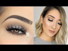 (22) SOFT SPARKLY SILVER SMOKEY EYE MAKEUP TUTORIAL - YouTube #EyeMakeupChristmas #MakeupIdeasForTeens #EyeMakeupSilver #EyeMakeupCutCrease White Eye Makeup, Sparkly Makeup, Bronze Eye Makeup, Eye Makeup Cut Crease, Hazel Eye Makeup, Asian Eye Makeup, Smokey Eye Makeup Tutorial, Simple Eye Makeup, Natural Makeup