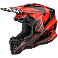 2016 Airoh Twist Helmet Evil Orange Gloss