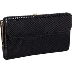 Whiting and Davis Wallet With Checkbook Cover (Black) Whiting and Davis. $87.19