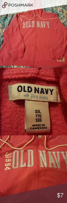 Old Navy zip up hoodie Hot pink zip up hoodie...good condition Old Navy Tops Sweatshirts & Hoodies