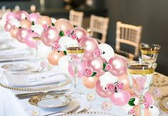 Ready to make a fabulous tablescape for your next party? This easy DIY kit includes everything you need to make a 6,8,10 or 12 foot balloon garland. This garland that can be hung up, suspended or draped as a party backdrop. You can add flowers (not included), leaves, paper cut outs you name