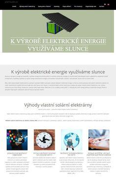 K VÝROBĚ ELEKTRICKÉ ENERGIE VYUŽÍVÁME SLUNCE