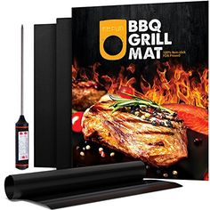 100% Non-stick Grill Mat, Refun FDA Approved Barbecue Sheets Set of 3 BBQ Mats,16 X 13 Inch, Works on Gas, Charcoal and Electric Grills etc, An Extra Grill Thermometer Included ** See this great product.