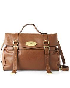 Mulberry Alexa oversized buffalo leather satchel