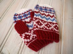 Fairisle Style Unisex Baby Mittens by PippisTail on Etsy