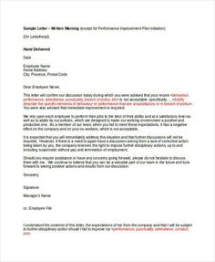 Absence Without Intimation - Warning Letter Format | Stuff ...
