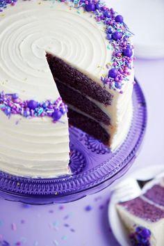 Purple Velvet Cake with Cream Cheese Frosting