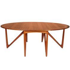 Niels Kofoed Drop-Leaf Teak Dining Table