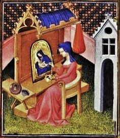 It's About Time: Women Artists from the 1300s-1400s - Illuminated Manuscripts. From Tabula Picta, Painting & Writing in Medieval Law, Marta Madero.