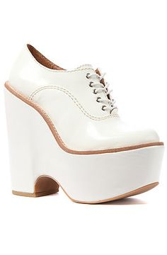 <3 and adore!  So cute.  The Truancy Shoe in White by Jeffrey Campbell
