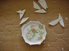 BROKEN CHINA MOSAIC HOW TO: SAFETY AN IMPORTANT FIRST STEP!